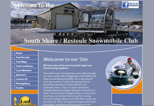 south shore restoule snowmobile club website