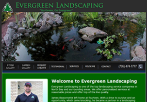 evergreen landscaping website
